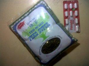 teh hijau & obat migren